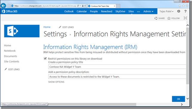 Rms in office 365 with azure rms saas roy apalnes 39 s blogg - Rights management services office 365 ...